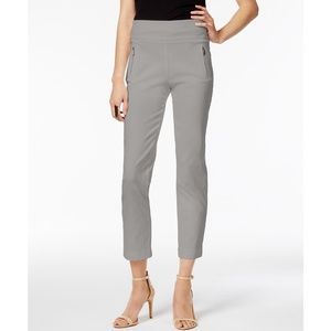 INC Pull On Curvy-Fit Cropped Pants, Sky Grey, 8